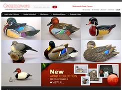 Website preview thumbnail for : Great Carvers