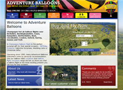 Website preview thumbnail for : Adventure Balloons