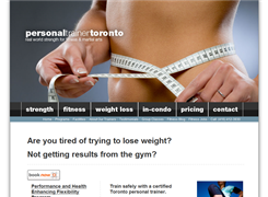 Website preview thumbnail for : Personal Trainer Toronto