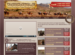 Website preview thumbnail for : Vegas Horseback Tours
