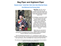 Website preview thumbnail for : Highland Piper