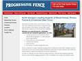 Website preview thumbnail for : Progressive Fence