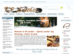 Website preview thumbnail for : K9 Leather