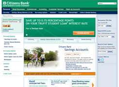 Website preview thumbnail for : Citizens Bank