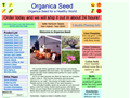 Website preview thumbnail for : Organica Seed