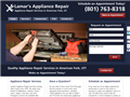 Website preview thumbnail for : Lamar's Appliance