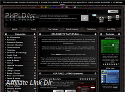 Website preview thumbnail for : phpLD List