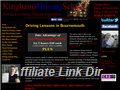 Website preview thumbnail for : Kinghams Driving School