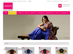 Website preview thumbnail for : Anya boutique