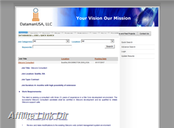Website preview thumbnail for : DatamanUSA LLC staffing services